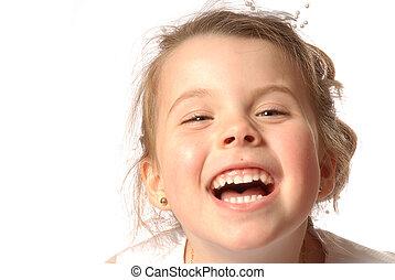 Laughing - girl having fun