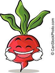Laughing radish character cartoon collection