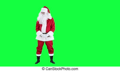 Laughing Santa Claus chroma key