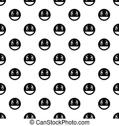 Laughing smiley face pattern, simple style