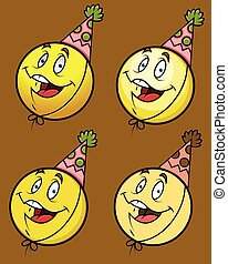 Laughing Smiley with Party Cap