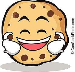 Laughing sweet cookies character cartoon
