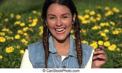 Laughing Teen Girl