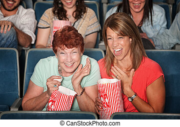 Laughing Women at Picture Show