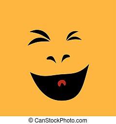 Laughter. Happy face. Design element