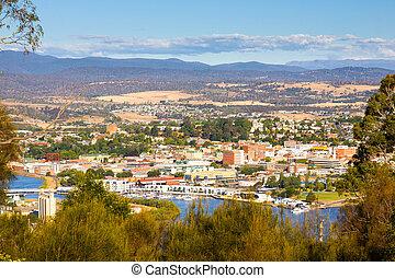 Overlooking Launceston on the Tamar River, Tasmania, Australia