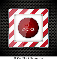 Launch button for your design. Vector illustration. Best choice