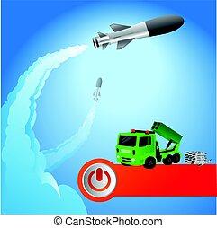 launch., fusée