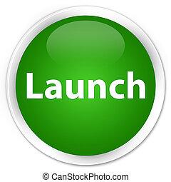 Launch premium green round button