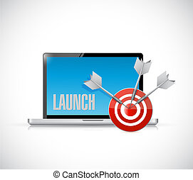 Launch Target Goals concept illustration design