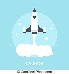 Vector illustration of launch flat design concept.
