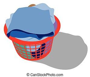 laundry basket full of garments
