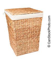 Laundry basket isolated on white background