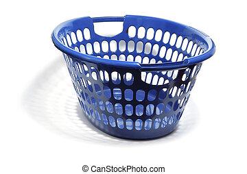 Laundry Basket on White Background