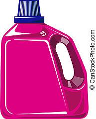 Laundry Bottle Isolated - Illustration of a laundry bottle...
