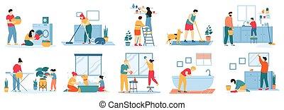 laundry., cleaning., μικροβιοφορέας , σινέρωμα , θέτω , σπίτι , οικιακή εργασία , χαλί , αβέστωμα ανατρέπω , αρμοδιότητα , άνθρωποι , εικόνα , νοικοκυριό , κενό