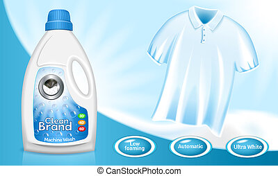 Laundry concept background, realistic style