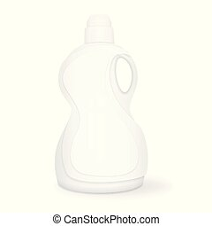 Laundry detergent, white package 3d vector illustration