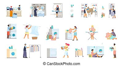 Laundry Flat Icons Collection