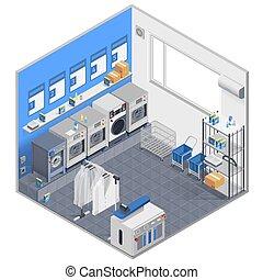 Laundry Isometric Concept
