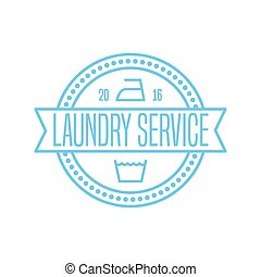 Laundry label, stamp, vector illustration