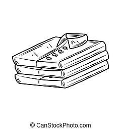 laundry male folded shirts line style icon