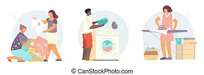 Laundry People Flat Compositions