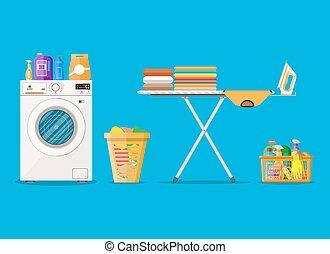 Laundry room with washing machine
