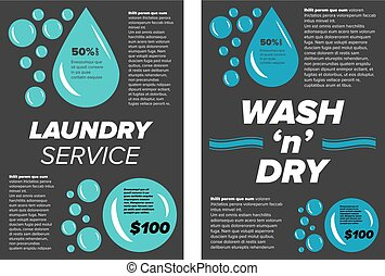Laundry service banners