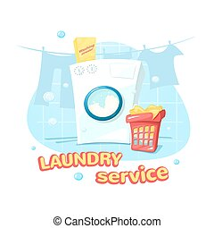 Laundry service concept design vector illustration - Laundry...