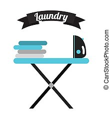 laundry service design, vector illustration eps10 graphic