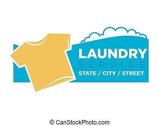 Laundry service emblem