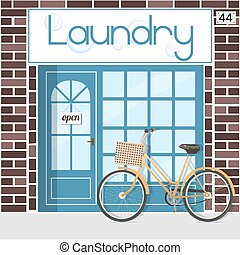 Laundry service poster vector illustration laundry service laundry service pronofoot35fo Image collections