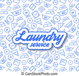 Laundry service illustration