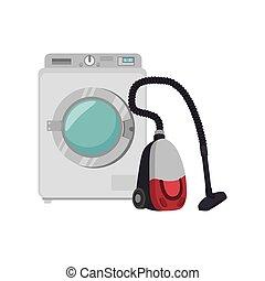 laundry service set icons