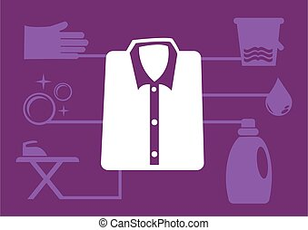 Laundry Service Vector Icons for Infographics