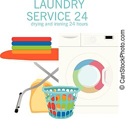Laundry service vector illustration design. Cleaning concept