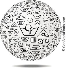 Laundry service vector illustration on white background