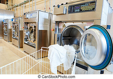 laundry services - line of industrial laundry machine in ...