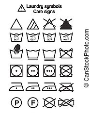 Laundry symbols, care signs