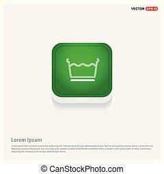 Laundry symbols icon Green Web Button