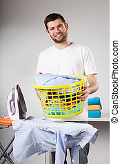 Laundry to ironing