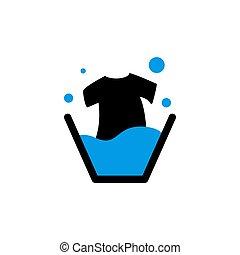 laundry tshirt vector design template illustration