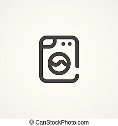 laundry vector icon sign symbol