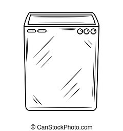 laundry washer machine clothes line style icon