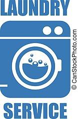 Laundry (washhouse) service simple icon
