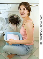 Laungry girl