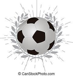 laur, piłka nożna, wieniec, piłka