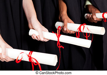 laureati, presa a terra, diploma