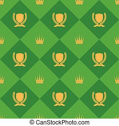 Laurel And Crown Seamless Pattern